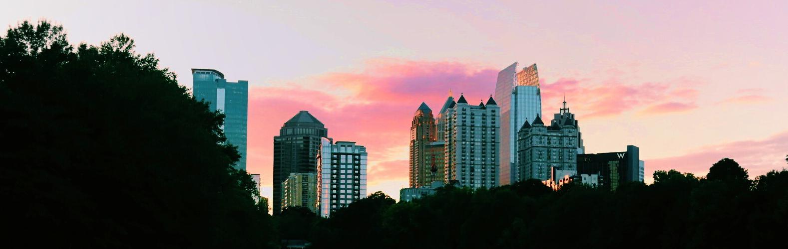 Atlanta Skyline Park View Cropped